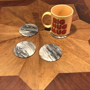 Marble black and white coasters- Set of 4